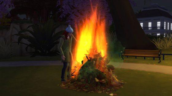 Bladeren verbranden