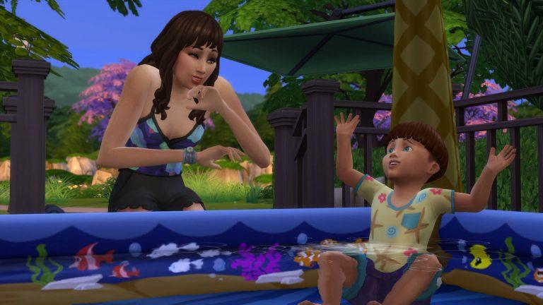 De Sims 4 Jaargetijden: Peuterbadje