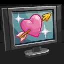 Naar romantische televisie kijken