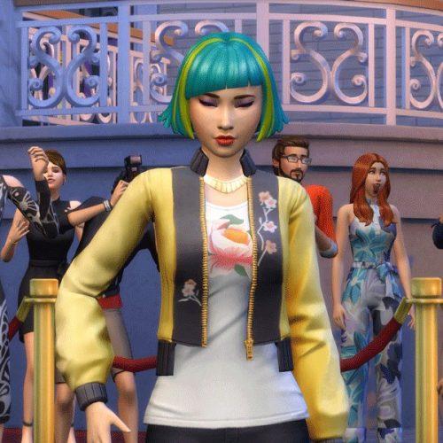 De Sims 4 teaset pakket rondom beroemdheden