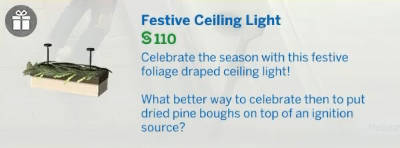 Festive Ceiling Light