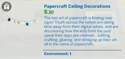 Papercrafted Ceiling Decorations