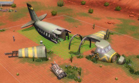 De Sims 4 StrangerVille gecrasht vliegtuig in bouwen