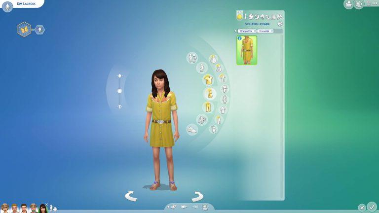 Creëer-een-Sim kleding voor kinderen