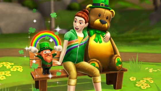 St. Patrick's Day-evenement begonnen in De Sims Mobile