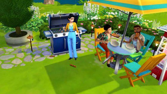 Achtertuin Barbecue-evenement begonnen in De Sims Mobile