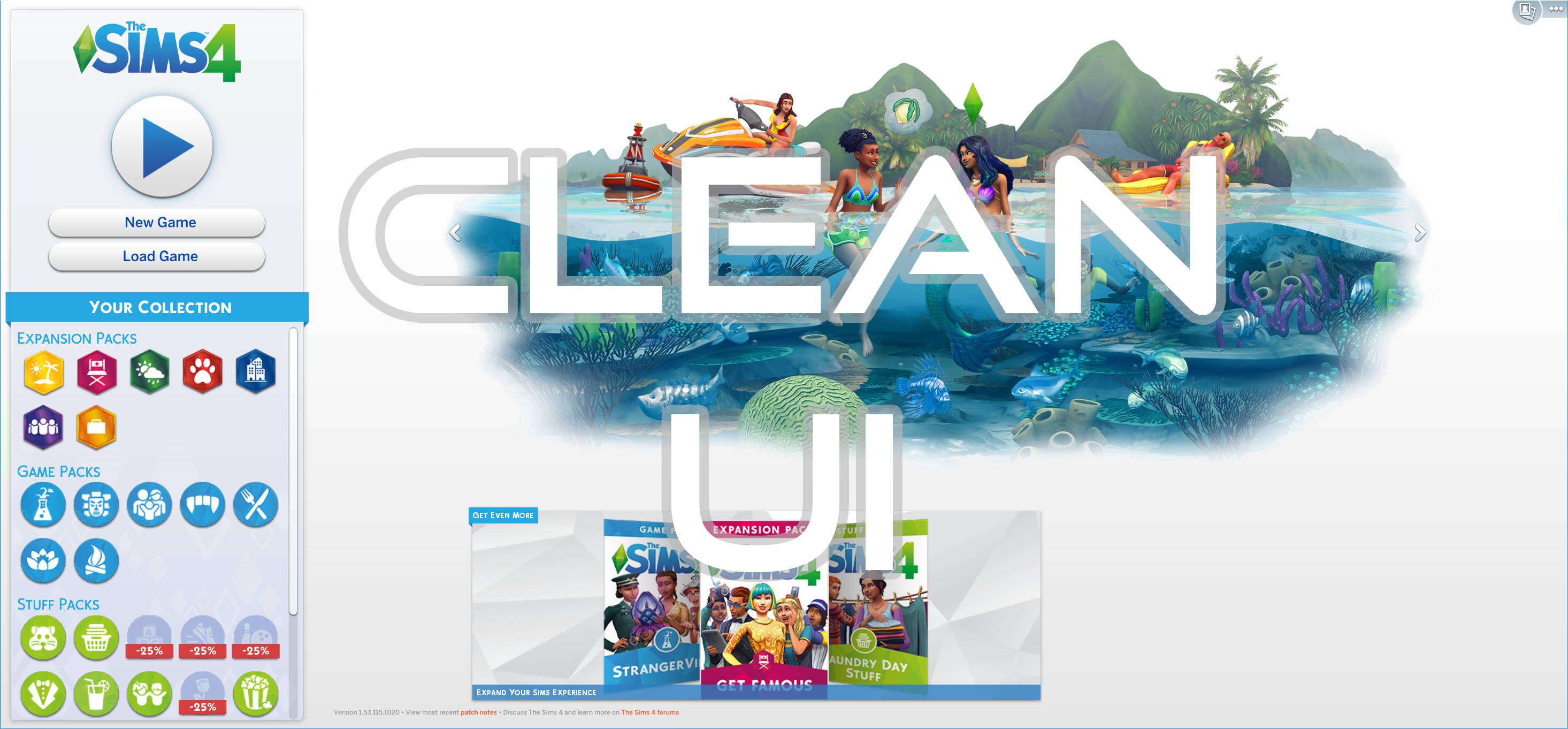 Clean UI mod