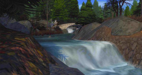 De Sims 4 Magisch Rijk videos van watervallen in Glimmerbrook