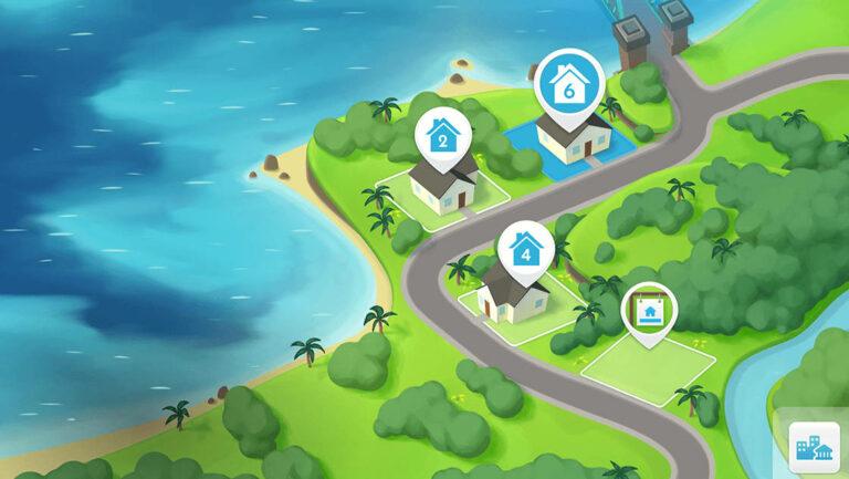 De Sims Mobile buurt-functie