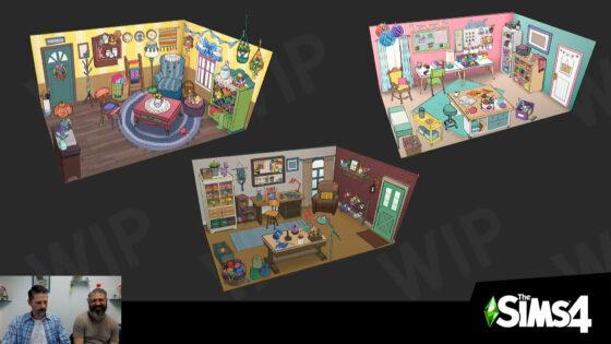 Eerste blik op de grafische stijlen voor het Creëer-een-Accessoirespakket project voor De Sims 4