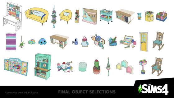 Uitslag vierde stemronde Creëer-een-Accessoirespakket voor De Sims 4 bekend