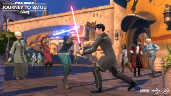 Officiële gameplaytrailer van De Sims 4 Star Wars: Journey to Batuu