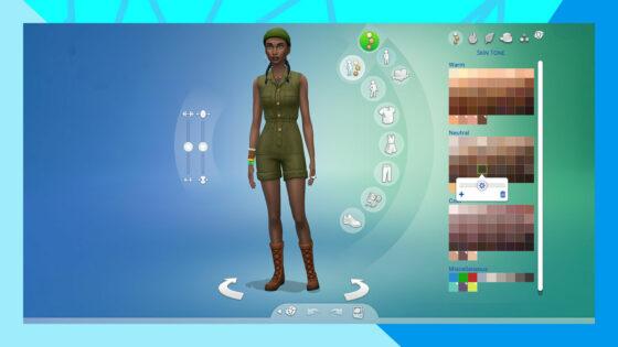 Eerste blik op december update voor De Sims 4 met nieuwe huidskleuren en schuifregelaars