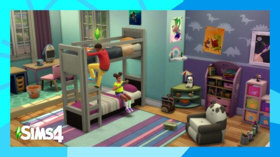Eerste screenshot van stapelbedden in De Sims 4 getoond, ook verbeteringen voor karaktereigenschappen op komst