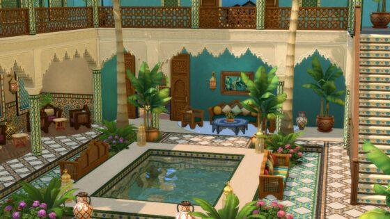 De Sims 4 Binnenplaats Oase Kit verschijnt binnenkort