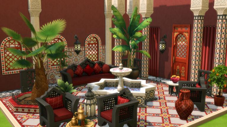 De Sims 4 Binnenplaats Oase